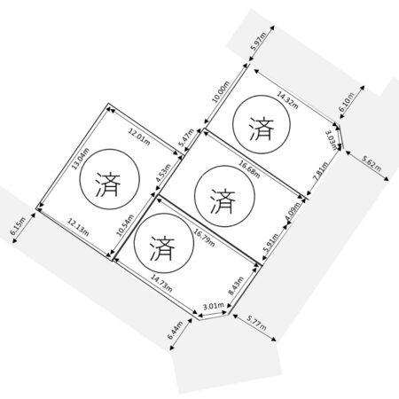 岡田町 4区画